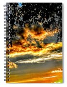 On The Edge Of Night Spiral Notebook