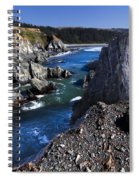 On The Edge Of The Blue Lagoon Spiral Notebook
