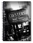 On The Half Shell - Bw Spiral Notebook