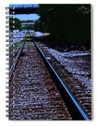 On The Railroad Tracks Spiral Notebook