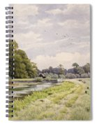 On The River Ouse Hemingford Grey Spiral Notebook