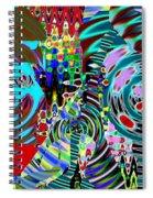 On The Same Wavelength Spiral Notebook