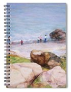 On The Shore Of The Ocean Spiral Notebook