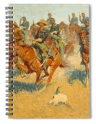 On The Southern Plains Frederic Remington Spiral Notebook