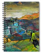 On The Steps Of The Quijote Spiral Notebook