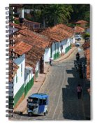 On The Streets Of Barichara - 3 Spiral Notebook