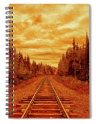 On The Tracks Spiral Notebook