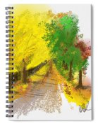 On The Yellow Road Spiral Notebook