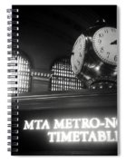 On Time At Grand Central Station Spiral Notebook