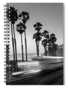 On Time Black And White Spiral Notebook