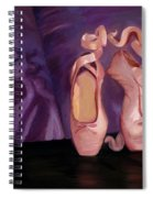 On Pointe - Mirror Image By Marilyn Nolan-johnson Spiral Notebook