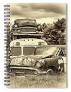 Once Shiny Dreams - Sepia Spiral Notebook