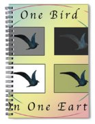 One Bird Poster And Greeting Card V1 Spiral Notebook