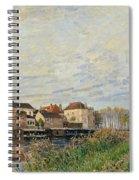 One Evening At Moret End Of October Spiral Notebook