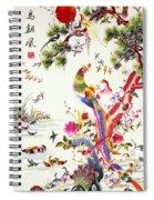 One Hundred Birds With A Phoenix, Canton, Republic Period Spiral Notebook
