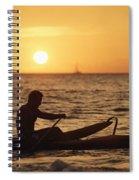 One Man Canoe Spiral Notebook