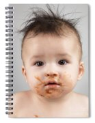 One Messy Baby Boy Spiral Notebook