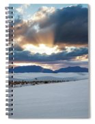 One More Moment - Sunburst Over White Sands New Mexico Spiral Notebook