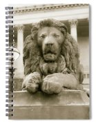 One Of Four Lion Statues Outside St George's Hall Liverpool Spiral Notebook