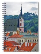 One Of The Churches In Cesky Kumlov In The Czech Republic Spiral Notebook