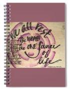 One Source Spiral Notebook