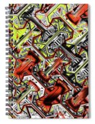One Version Yellow And Red Abstract Spiral Notebook