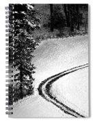 One Way - Winter In Switzerland Spiral Notebook