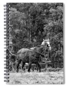 One With The Land - Bw Spiral Notebook
