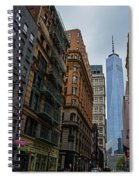 One World Trade Center New York Ny From Nassau Street Spiral Notebook