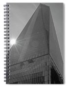One World Trade Center New York Ny Sunset Black And White Spiral Notebook