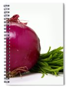 Onion And Chives Spiral Notebook