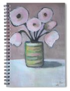Only White Flowers Spiral Notebook