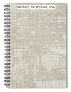 Ontario California Us City Street Map Spiral Notebook