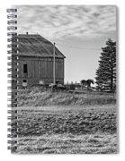 Ontario Farm 4 Bw Spiral Notebook