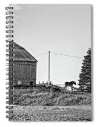 Ontario Farm 5 Bw Spiral Notebook