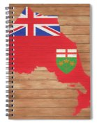 Ontario Rustic Map On Wood Spiral Notebook
