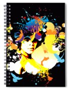 Onxy Doves - Bespattered Spiral Notebook