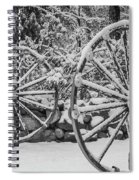Oo Wagon Wheels Black And White Spiral Notebook