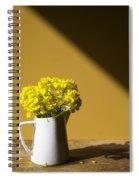 Good Morning Sunshine- Rapeseed Flowers And White Mug   Spiral Notebook