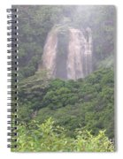 Opaekaa Falls On Kauai During A Storm Spiral Notebook