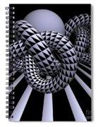 Opart Knots Spiral Notebook
