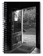 Open Door B-w Spiral Notebook