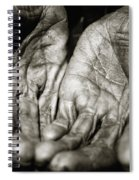 Two Old Hands Spiral Notebook