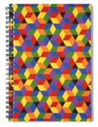 Open Hexagonal Lattice I Spiral Notebook