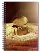 Open Jewelry Box With Pearls Spiral Notebook