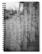 Open Sign Quadruple Multiple Exposure Holga Photography Spiral Notebook