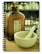 Opium Bottle In Apothecary Spiral Notebook