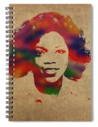 Oprah Winfrey Vintage 1978 Watercolor Portrait Spiral Notebook
