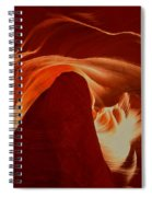 Orange Abstract At Upper Antelope Spiral Notebook