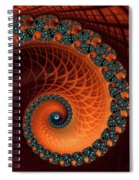 Orange And Aqua Spiral Spiral Notebook